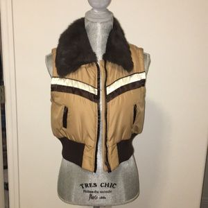 Brown fury vest nwot